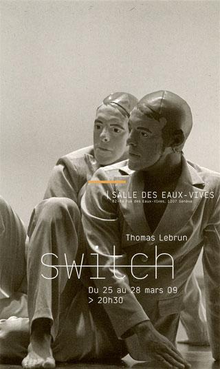 "Affiche ""Switch"" Cie Illico / Thomas Lebrun © Frédéric Iovino"